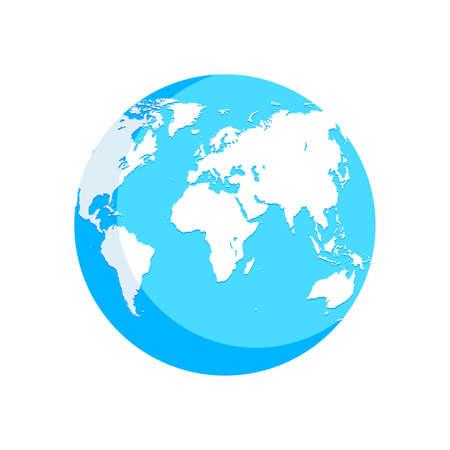 world map blue white illustration globe 向量圖像