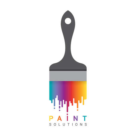 Dripping paint. Rainbow background. Abstract colorful backdrop on white Фото со стока - 118976620