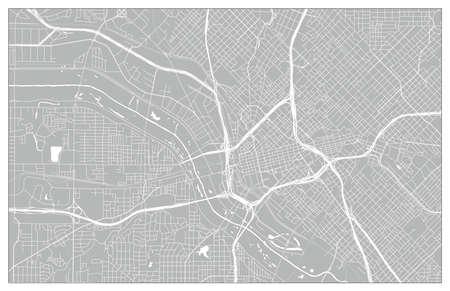 Vektor-Stadtplan von Dallas