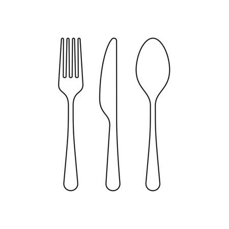 fork, knife and spoon icon. Cutlery and menu. vector graphic 写真素材 - 118908534