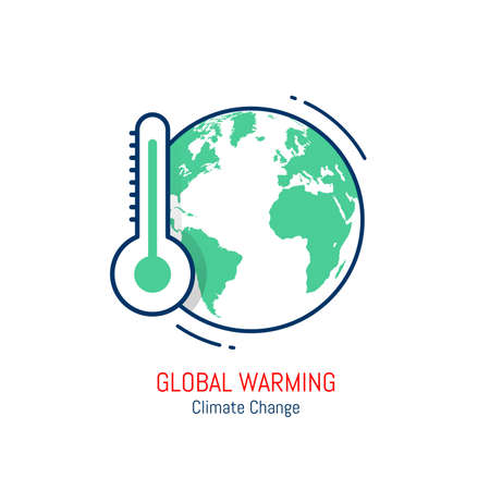 Global warming icon isolated on white background