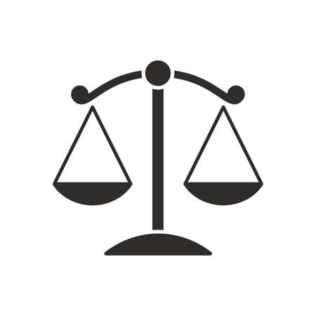 Scales of justice flat icon for apps and websites Illusztráció