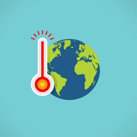 flat color global warming icon  イラスト・ベクター素材