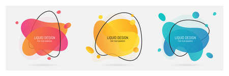 Abstract geometric round circle shapes background for design, vector background Ilustracja