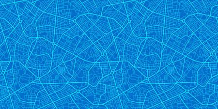 Urban vector city map seamless texture Stock Illustratie