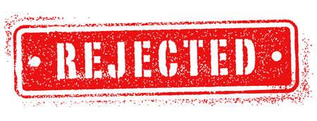 rejected stamp Illustration