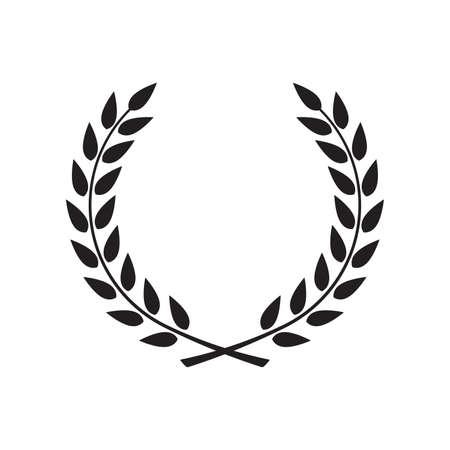 Lorbeerkranz - Symbol des Sieges und der Macht, flaches Symbol für Apps und Websites
