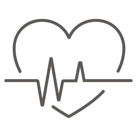 cardiology wave monitor heart icon black on white background