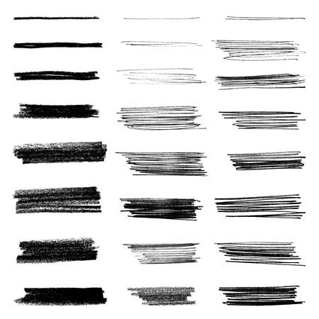 Set of grungy vector brushes  イラスト・ベクター素材