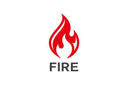 Fire Flame  design vector. Bonfire Silhouette  icon