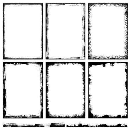 Grunge Backgrounds And Frames Vector Vektoros illusztráció