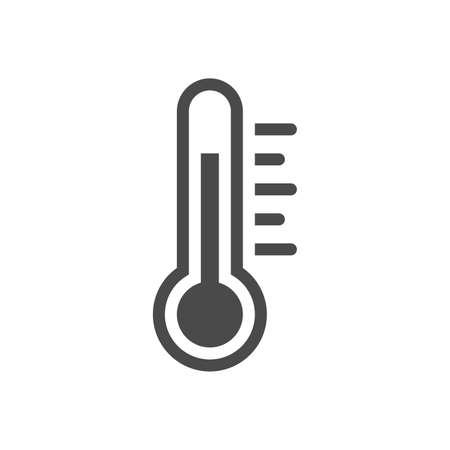 Icono de temperatura plana