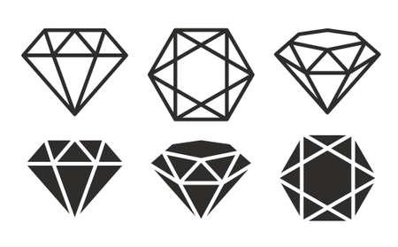 Diamond Icon set Ilustracja