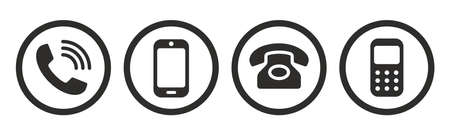 Phone icon collection. Call sign. Vector