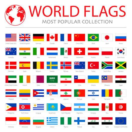 World flags vector graphics 일러스트
