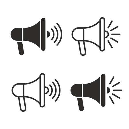 Megaphones icons set Ilustração