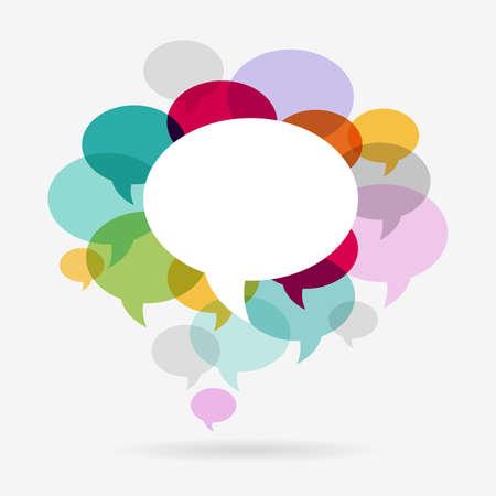 Communication Bubbles Concept