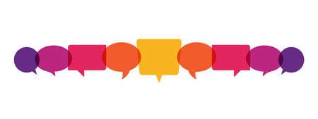 speech bubbles, communication concept, vector illustration Illusztráció