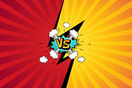 Fight backgrounds comics style design. Vector illustration