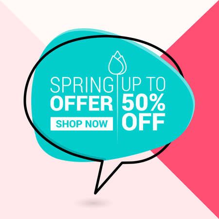 Spring sale background with beautiful colorful flower. Vector illustration.banners.Wallpaper.flyers, invitation, posters, brochure, voucher discount