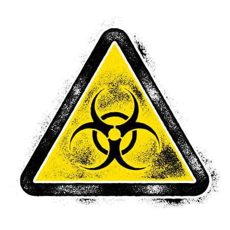Sign symbol quarantine zone, area Stop Novel Coronavirus outbreak covid 19 2019 nCoV symptoms , vector quarantine biohazard Sign biological activity threat alert