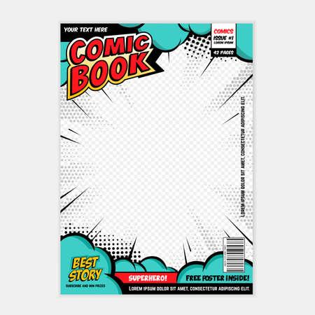 comic book page cover design concept Vektoros illusztráció