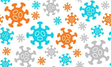 Quarantine, stop coronavirus epidemic design seamless pattern