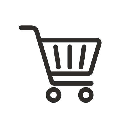 Shopping Cart Icon vector illustration, outline style 向量圖像