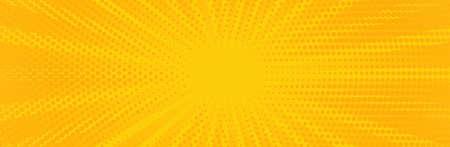 Vintage pop art yellow background. Banner vector 向量圖像