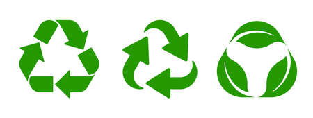 Set recycle icon sign – stock vector
