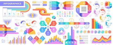 Big Infographic Elements vector set illustrations 向量圖像