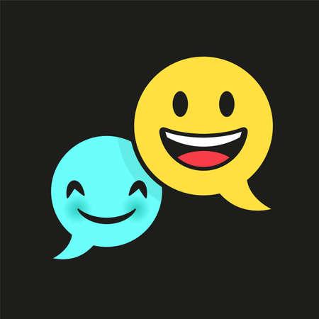 bulle dialogue, smiley concept