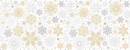 christmas card with snowflake border vector illustration 向量圖像