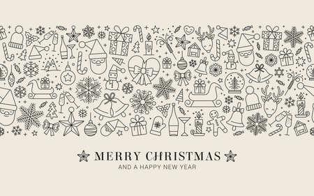 Design of Christmas decoration - seamless pattern