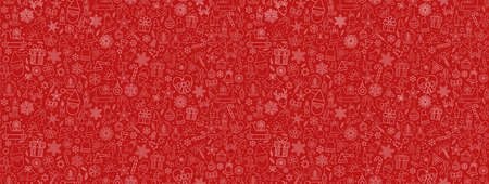 Beautiful Xmas pattern with ornaments. Christmas wrapping paper concept. Vector 向量圖像
