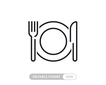 Food linear icons set Vector Illustratie