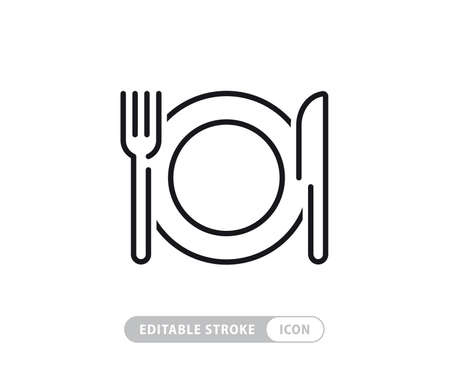 Food linear icons set Vetores