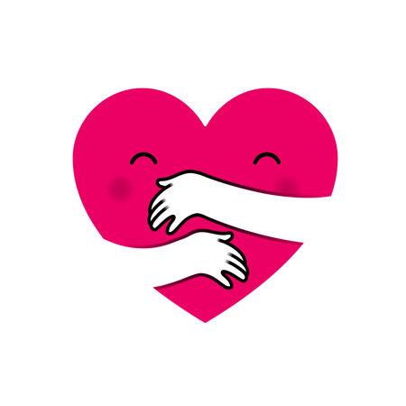 Love yourself heart hug
