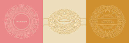 Vector design templates in simple modern style with copy space for text, flowers and leaves - wedding invitation backgrounds and frames, social media stories wallpapers