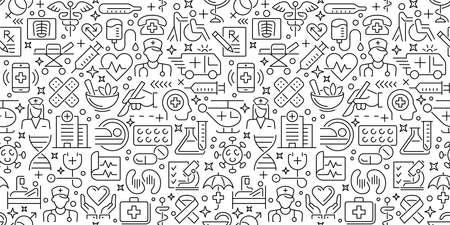 Healthcare Doodle Texture 向量圖像