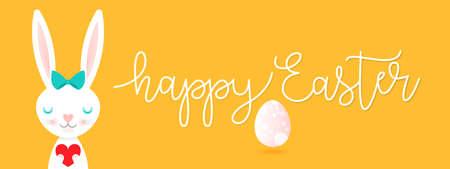 Easter rabbit, easter Bunny. Vector illustration