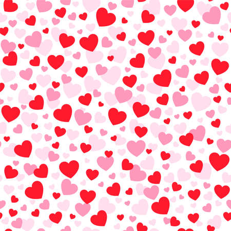 Hearts vector icon seamless pattern. Love texture background for valentine's day