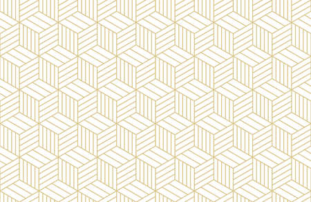 Pattern geometric gold line seamless luxury design abstract background