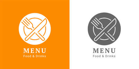 Cooking, cuisine. Icon and label for design menu restaurant or cafe. Lettering, calligraphy vector illustration
