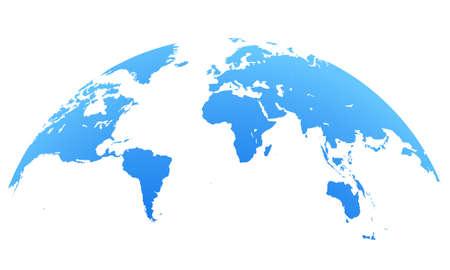 blue world map globe isolated on white background 向量圖像