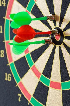 bar magnet: magnetic darts game closeup shot