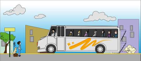 buss: scene go to on buss