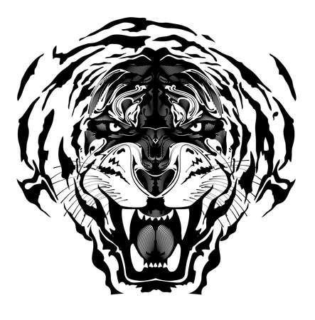 tiger, fine art, luxury pice Vector