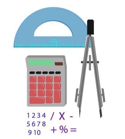 Wiskunde gereedschappen Stock Illustratie
