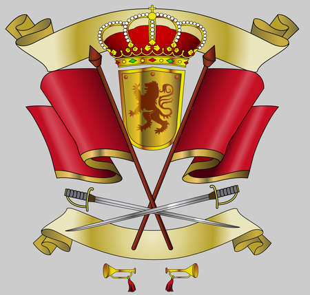 shield heraldy kingdom, ornament